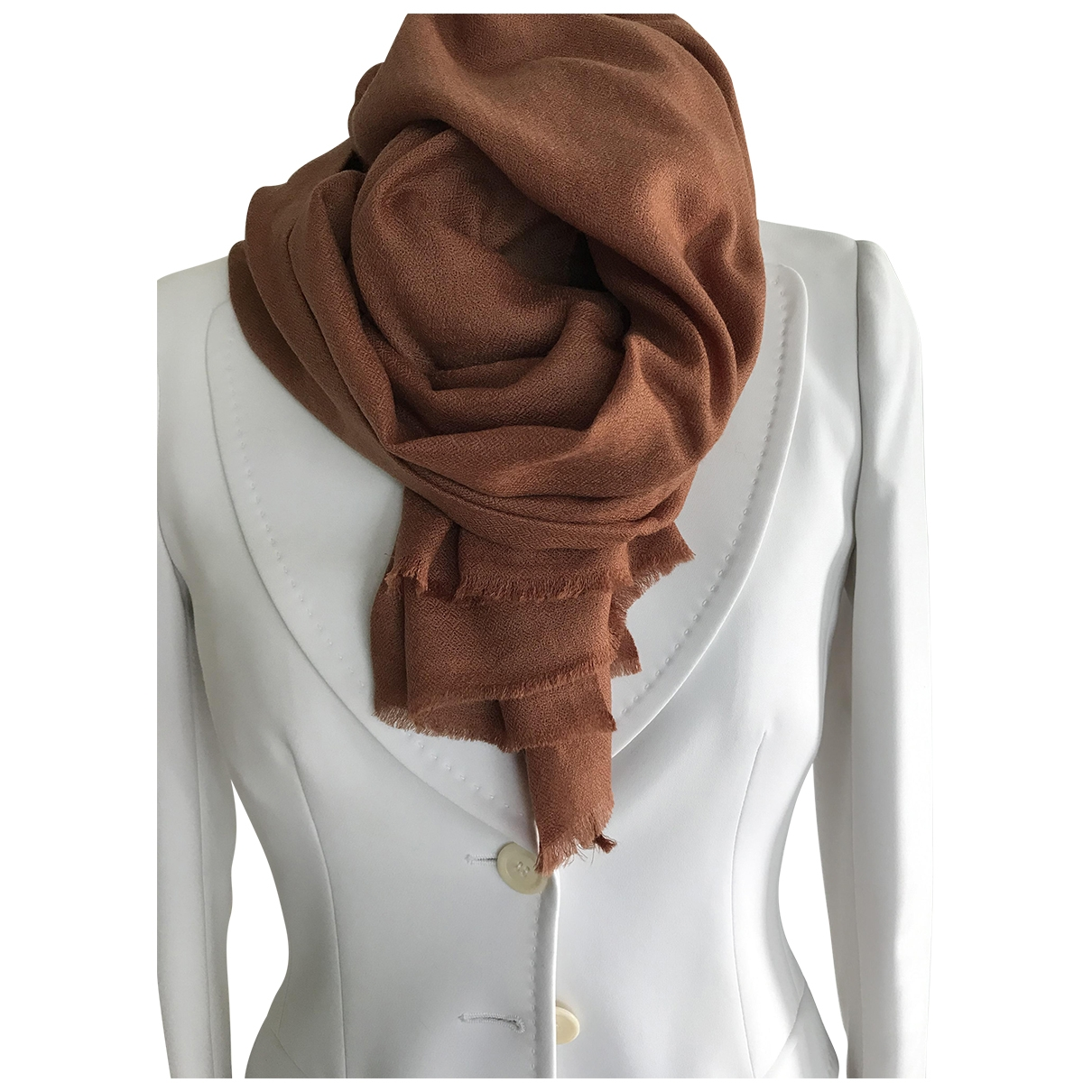 - Foulard   pour femme en cachemire - marron
