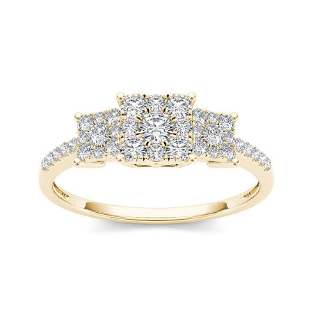 1/2 CT. T.W. Diamond 10K Yellow Gold Engagement Ring, 9 , No Color Family