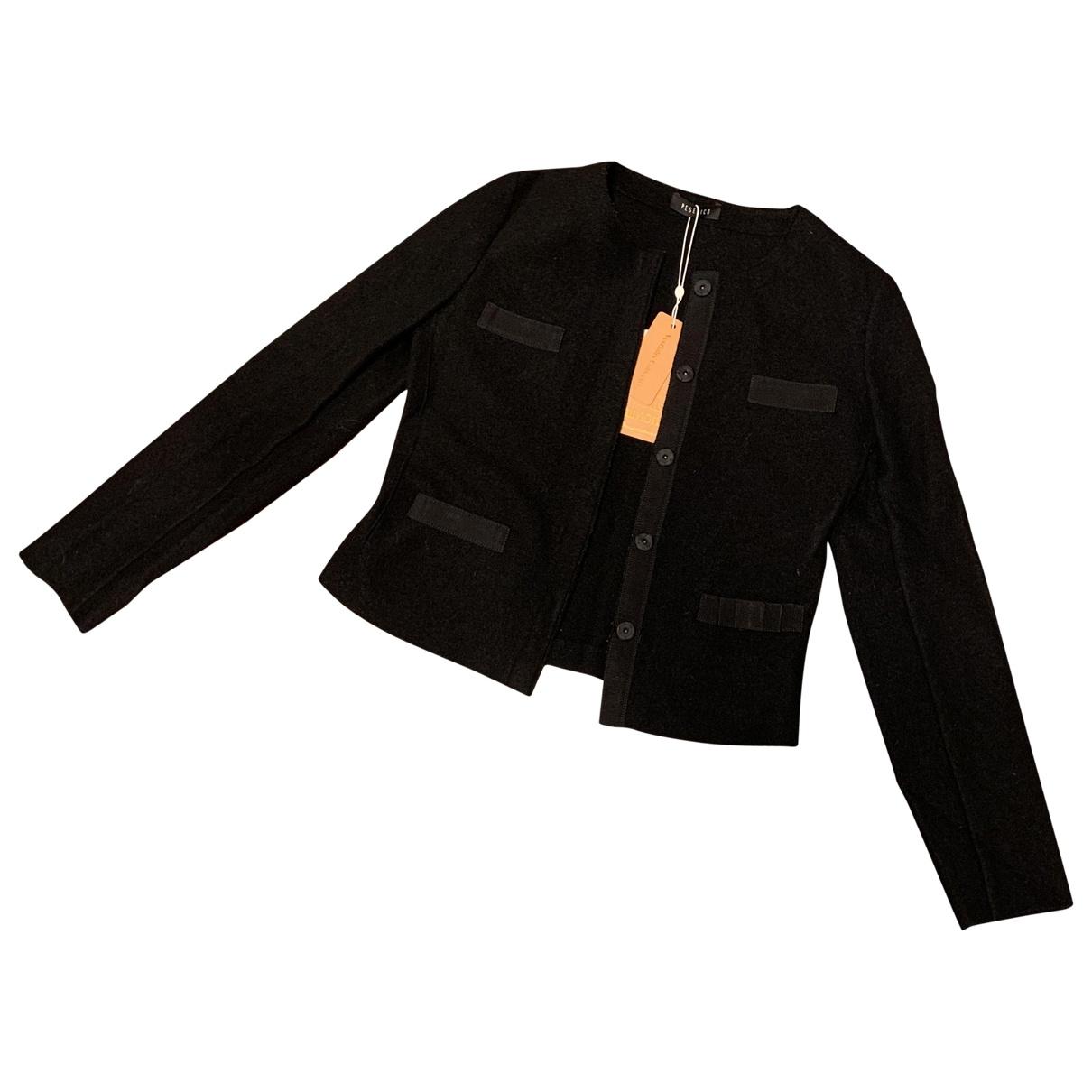 Peserico \N Black Wool jacket for Women 42 IT