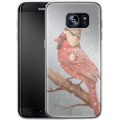 Samsung Galaxy S7 Edge Silikon Handyhuelle - First Snow von Terry Fan