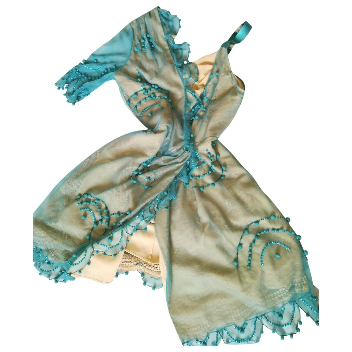 La Perla \N Kleid in  Tuerkis Seide