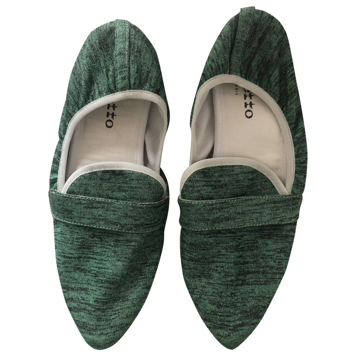 Repetto \N Green Cloth Ballet flats for Women 40 EU