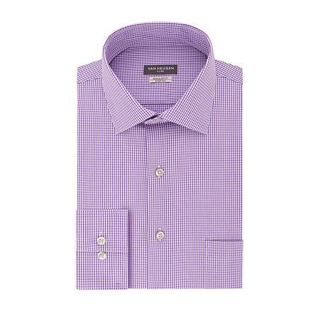 Van Heusen Flex Collar Dress Long Sleeve Shirt, 15.5 32-33, Purple