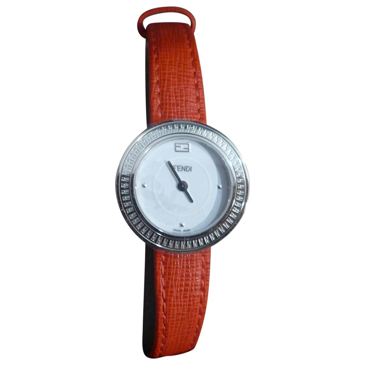 Fendi \N Red Steel watch for Women \N