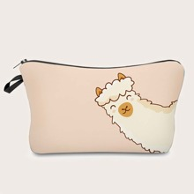 Alpaca Cartoon Graphic Makeup Bag
