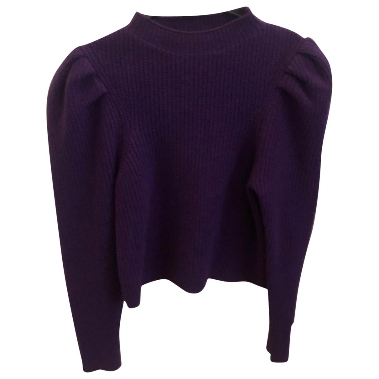 Sandro \N Purple Wool Knitwear for Women 38 FR