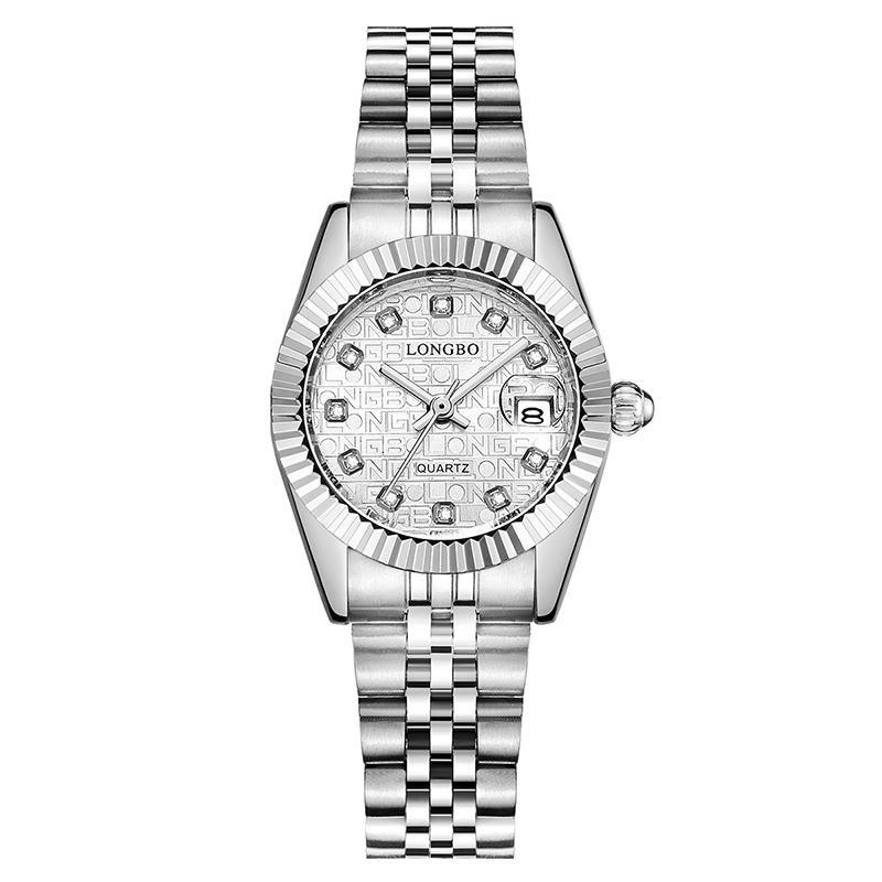 LONGBO 80435 Crystal Date Display Couple Quartz Watch