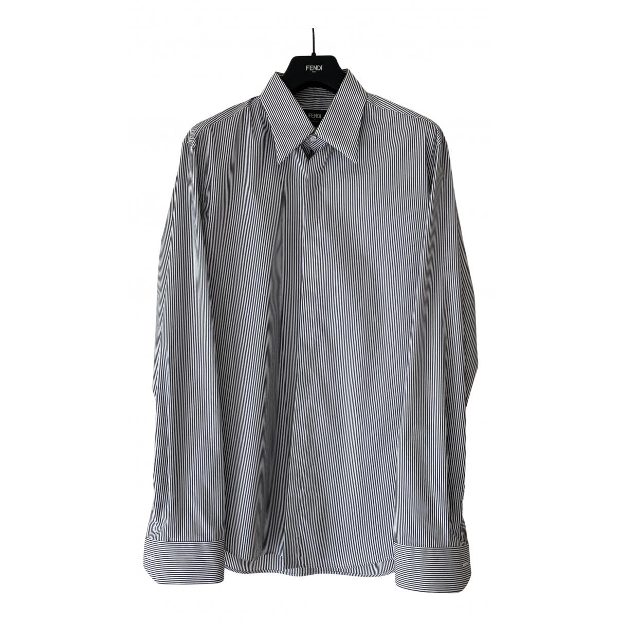 Fendi \N Hemden in  Grau Baumwolle