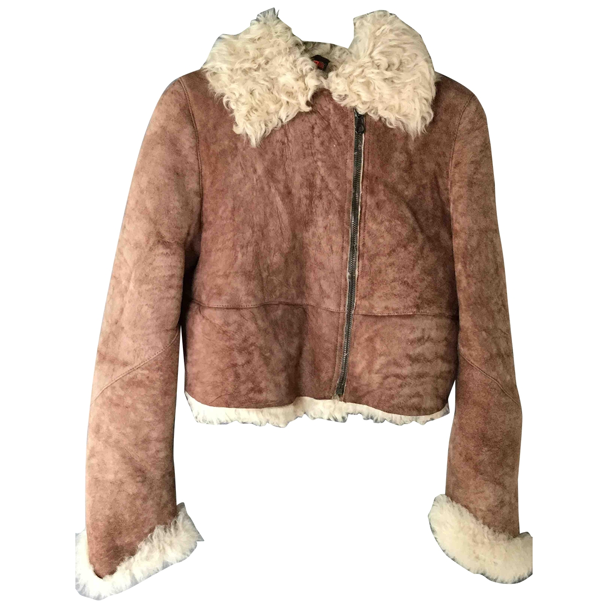 Christian Lacroix \N Brown Shearling Leather jacket for Women 40 FR