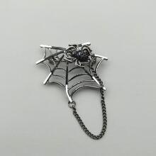 Brosche mit Spinnennetz Dekor