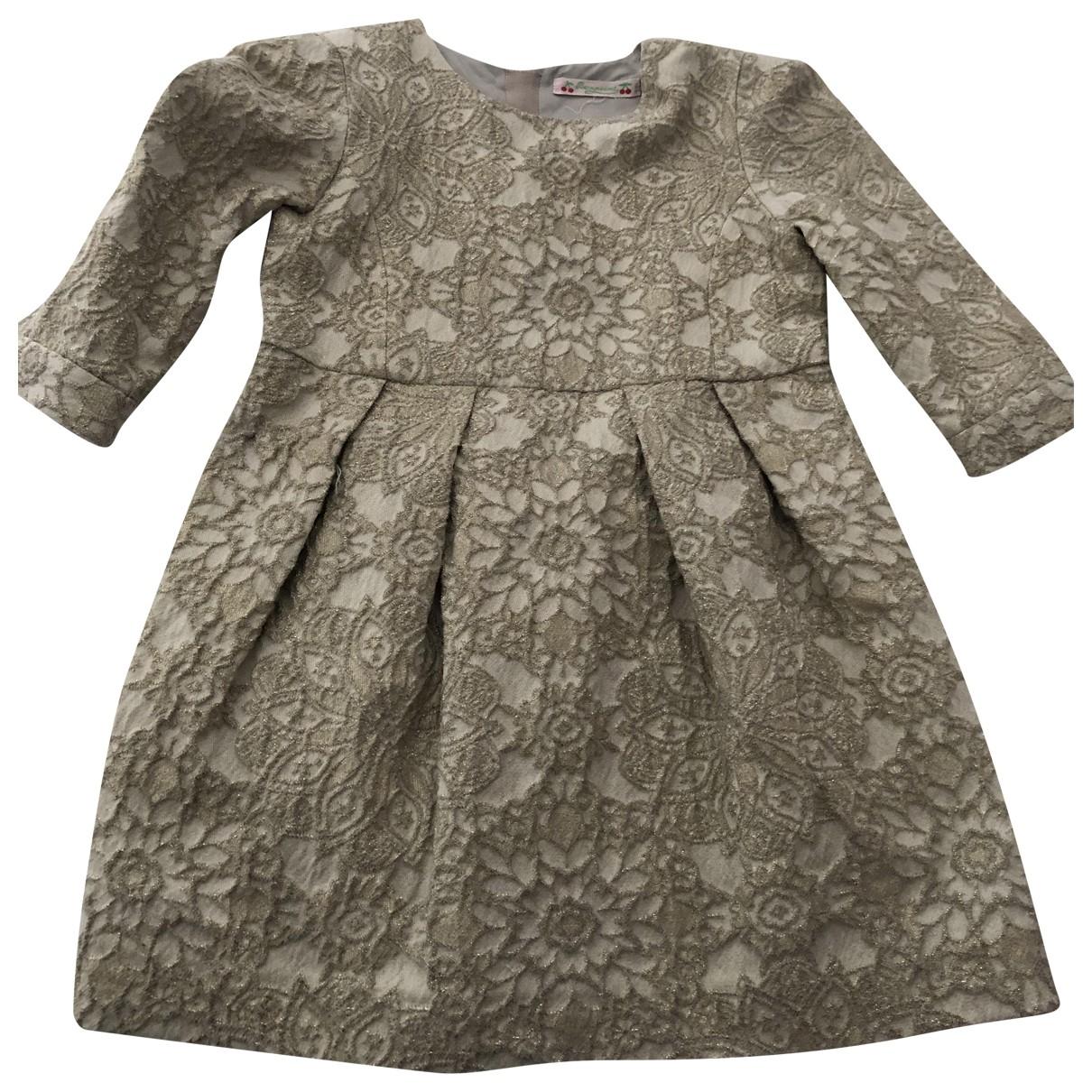 Bonpoint - Robe    pour enfant - dore