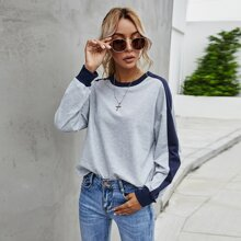 Side Panel Drop Shoulder Sweatshirt