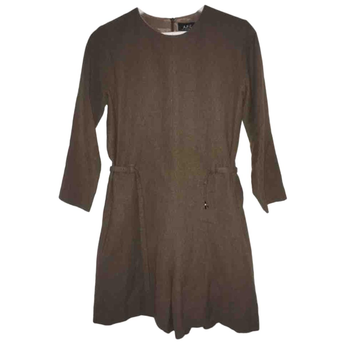 Apc - Combinaison   pour femme en laine - marron