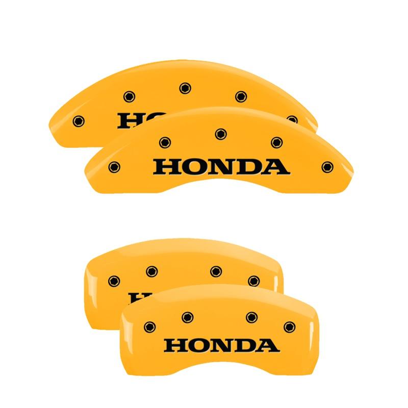 MGP Caliper Covers 20207SHONYL Set of 4: Yellow finish, Black Honda Honda Accord 2013-2017