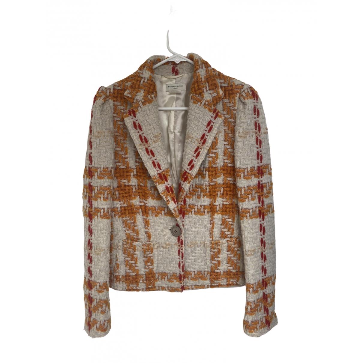 Dries Van Noten - Veste   pour femme en laine - orange
