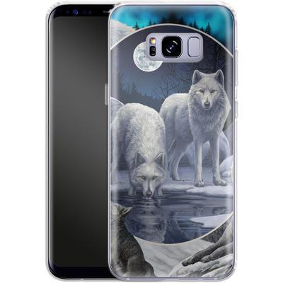 Samsung Galaxy S8 Plus Silikon Handyhuelle - Wild Wolves von Lisa Parker