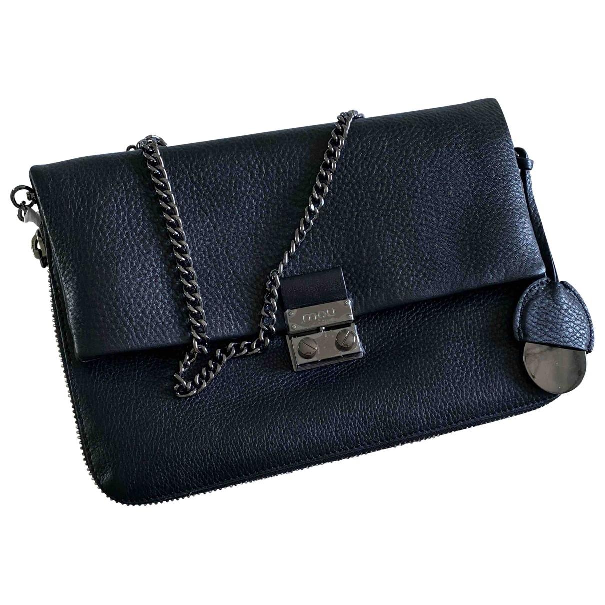 Mou \N Black Patent leather handbag for Women \N
