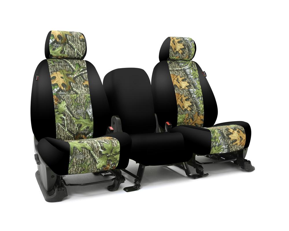 Coverking CSC2MO04GM9560 Skanda Custom Seat Covers 1 Row Neosupreme Mossy Oak Obsession with Black Sides Rear GMC Sierra 1500   2500 2014-2018
