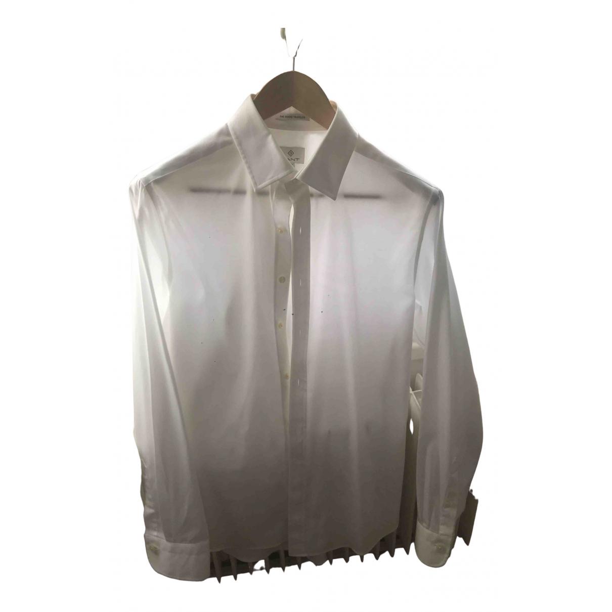 Gant - Chemises   pour homme en coton - blanc
