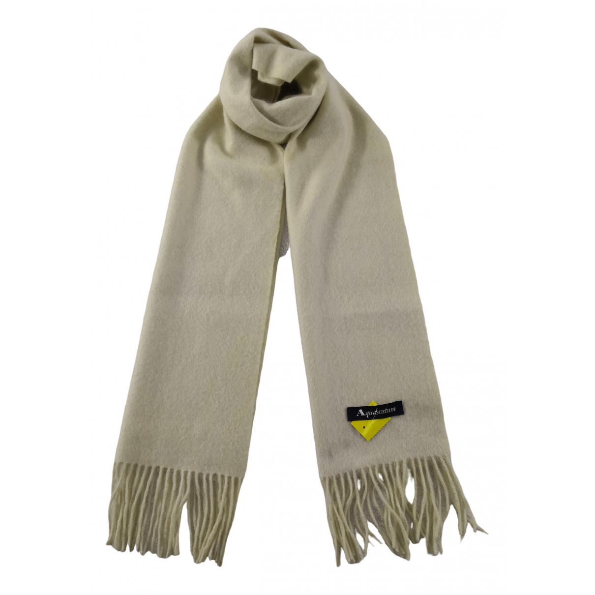 Aquascutum - Foulard   pour femme en laine - blanc
