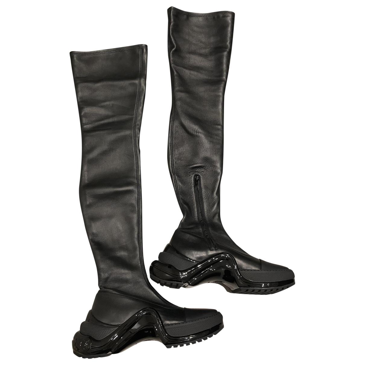 Louis Vuitton - Bottes Archlight pour femme en cuir - noir