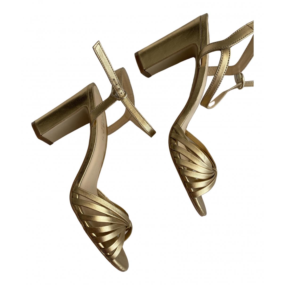 Jonak - Sandales   pour femme en cuir - dore