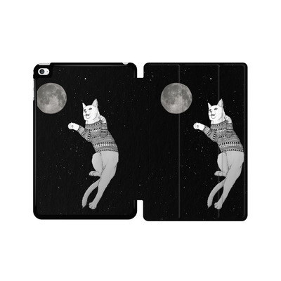 Apple iPad mini 4 Tablet Smart Case - Hipster Cat Trying to Catch the Moon von Barruf