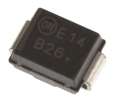 ON Semiconductor ON Semi 60V 2A, Schottky Diode, 2-Pin DO-214AA MBRS260T3G (20)