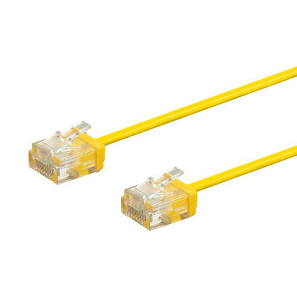 Micro SlimRun 550MHz 36AWG Cat6 UTP Stranded Ethernet Patch Cable - Monoprice® - 1ft, Yellow