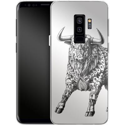 Samsung Galaxy S9 Plus Silikon Handyhuelle - Raging Bull von BIOWORKZ