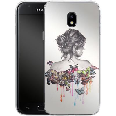 Samsung Galaxy J3 (2017) Silikon Handyhuelle - Butterfly Effect von Kate Powell