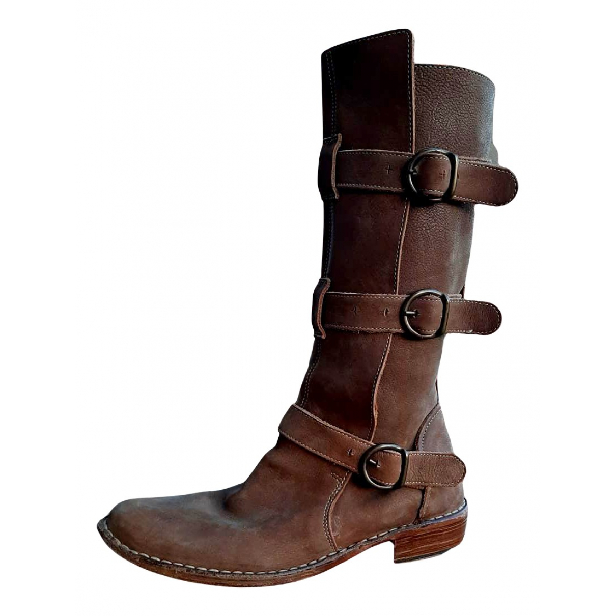 Fiorentini+baker N Beige Leather Boots for Women 39 EU