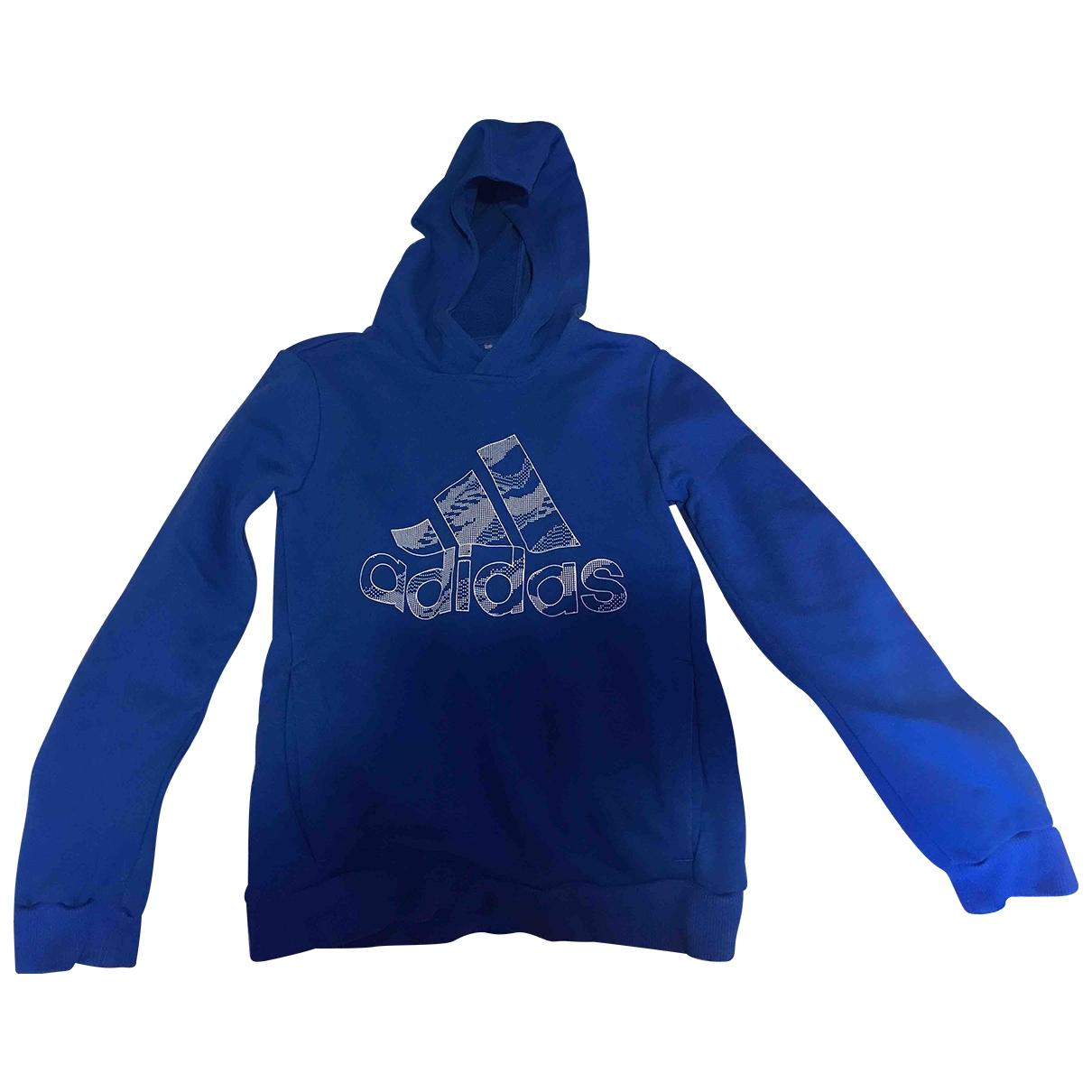 Adidas - Pull   pour enfant en coton - bleu