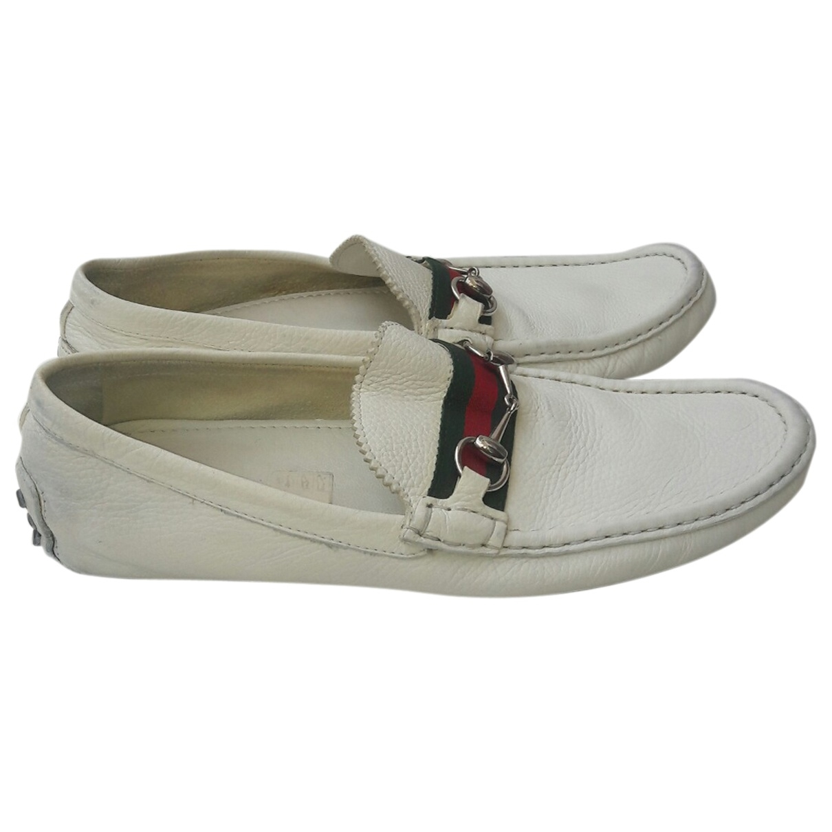 Gucci \N Mokassins in  Weiss Leder
