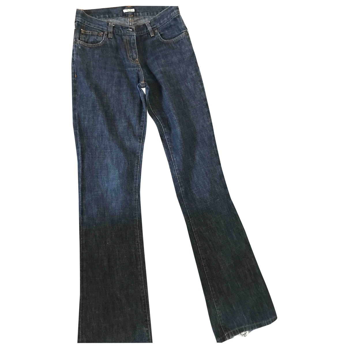 Miu Miu \N Blue Denim - Jeans Trousers for Women 38 FR