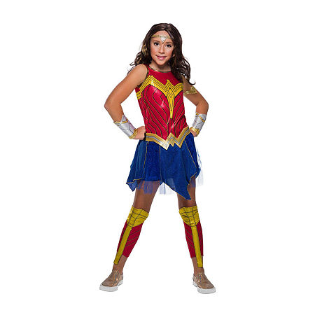 Child Wonder Woman 2 Movie Deluxe Girls Costume, Small , Red