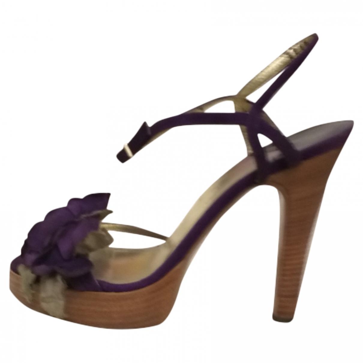 Dolce & Gabbana \N Purple Suede Sandals for Women 38 IT
