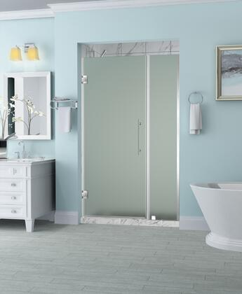 SDR965F-SS-5533-10 Belmore 54.25 To 55.25 X 72 Frameless Hinged Shower Door With Frosted Glass In Stainless