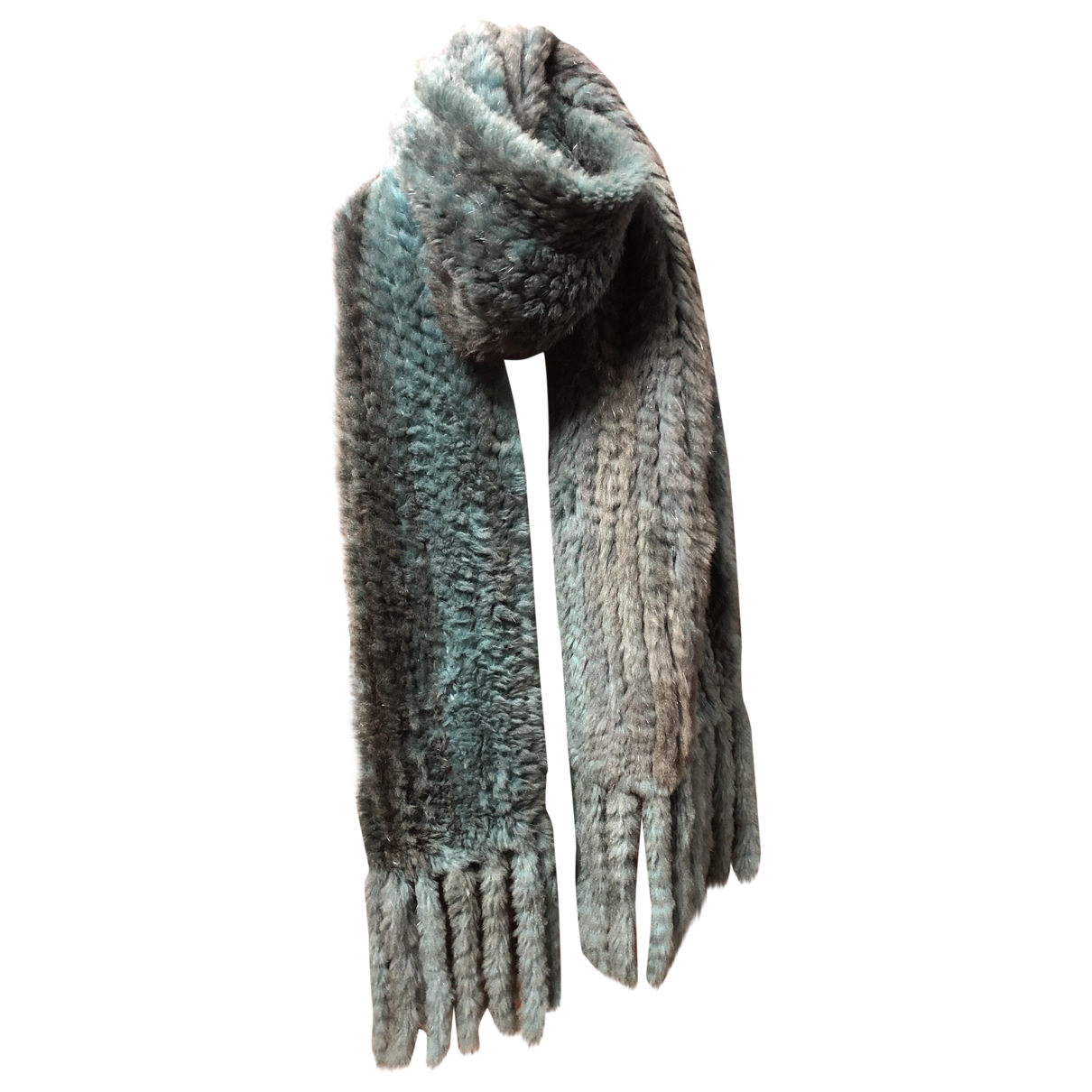 Non Signé / Unsigned \N Green Rabbit scarf for Women \N