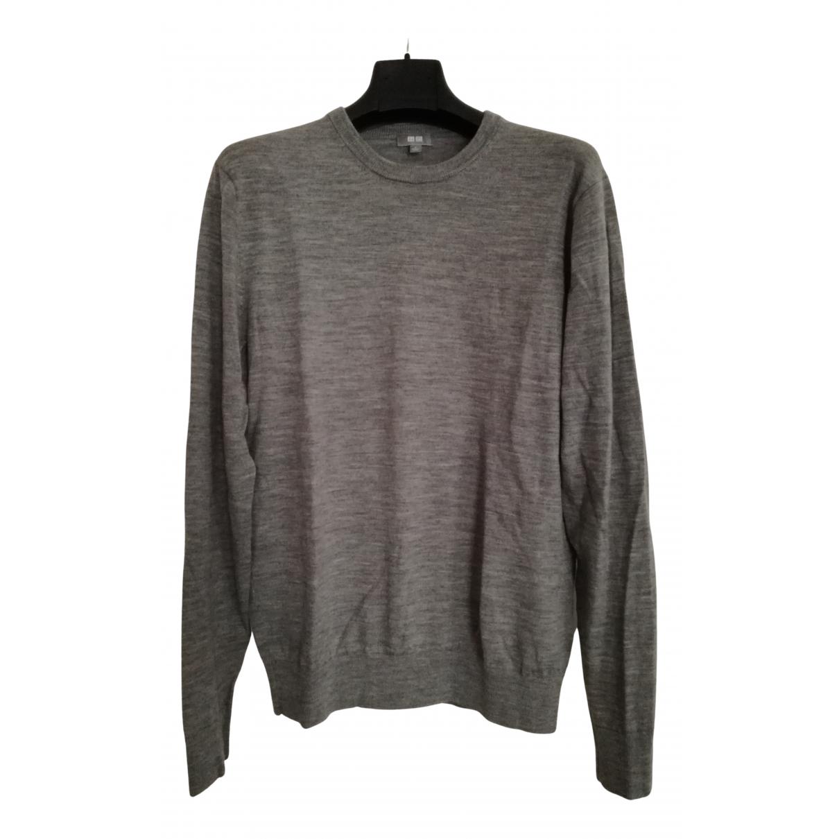 Uniqlo - Pull   pour femme en laine - gris
