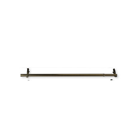 Rod Desyne Bay Extension 13/16 IN Curtain Rod, One Size , Brown