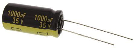 Panasonic 1000μF Electrolytic Capacitor 35V dc, Through Hole - EEUFM1V102 (5)