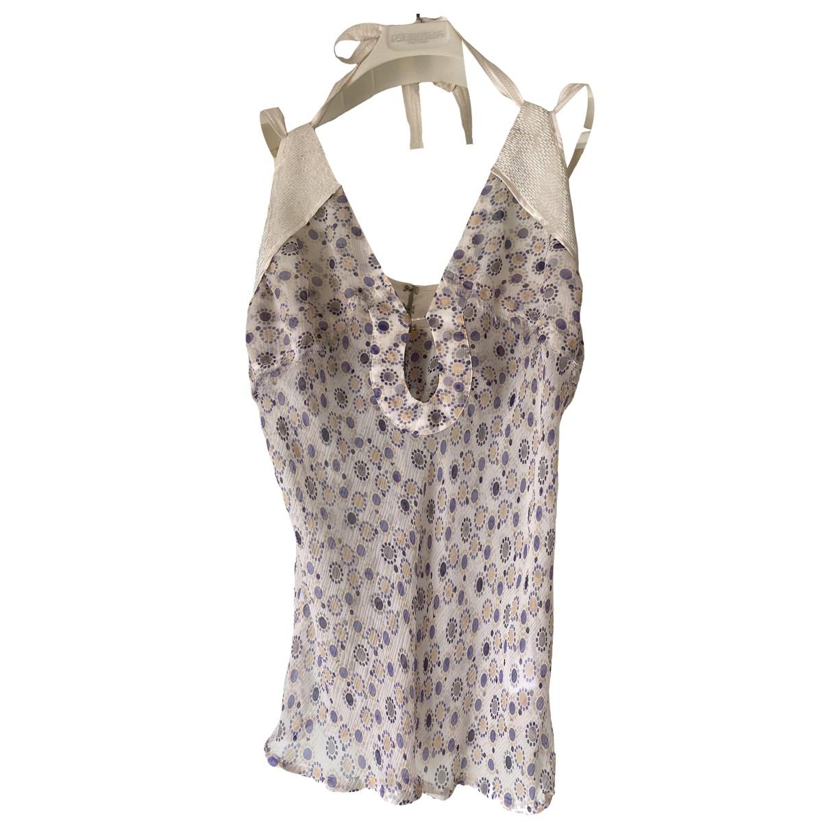 Patrizia Pepe \N White Silk  top for Women 42 IT