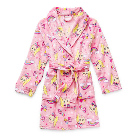 Little & Big Girls Plush JoJo Siwa Long Sleeve Mid Length Robe, 6 , Pink