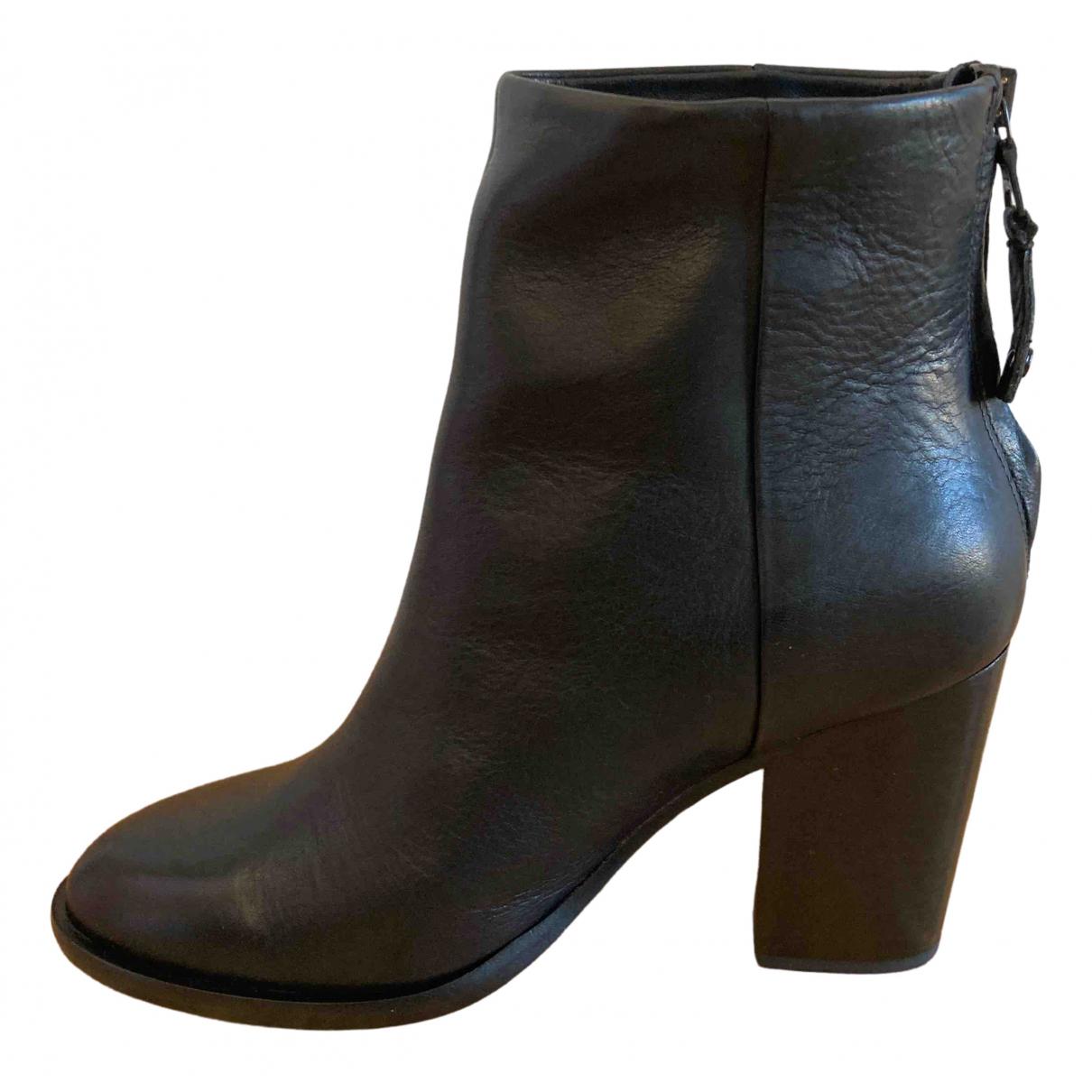 Rag & Bone \N Black Leather Ankle boots for Women 38 EU