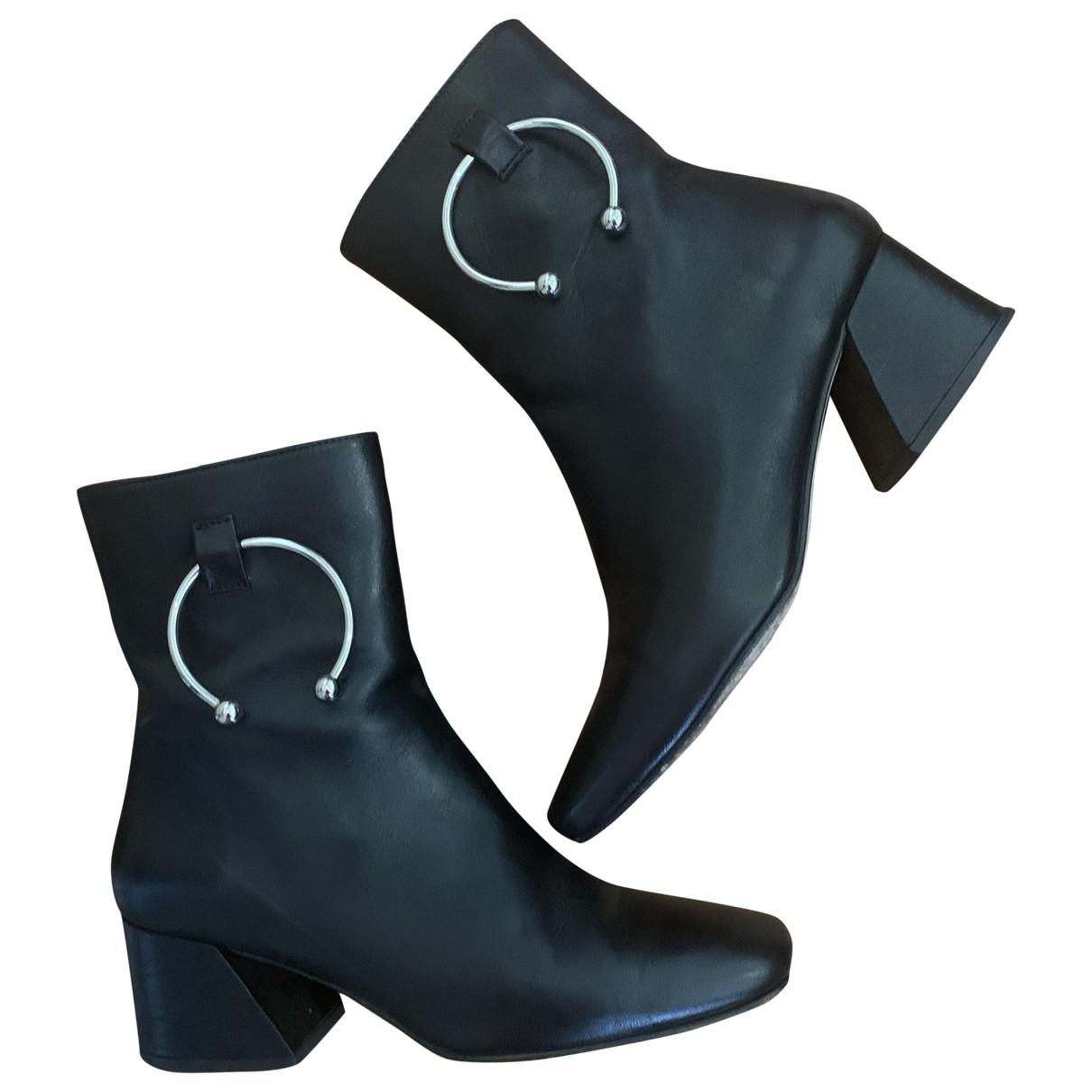 Dorateymur - Boots   pour femme en cuir - noir