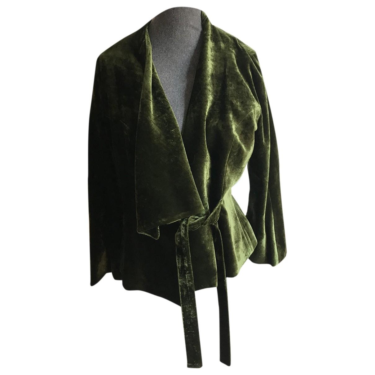 Non Signé / Unsigned \N Green Velvet jacket for Women 40 FR
