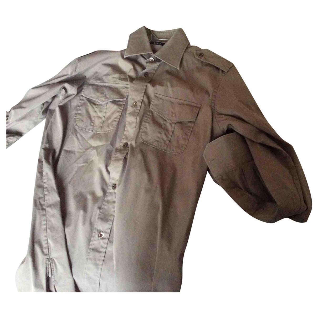 Gucci \N Beige Cotton Shirts for Men 37 EU (tour de cou / collar)