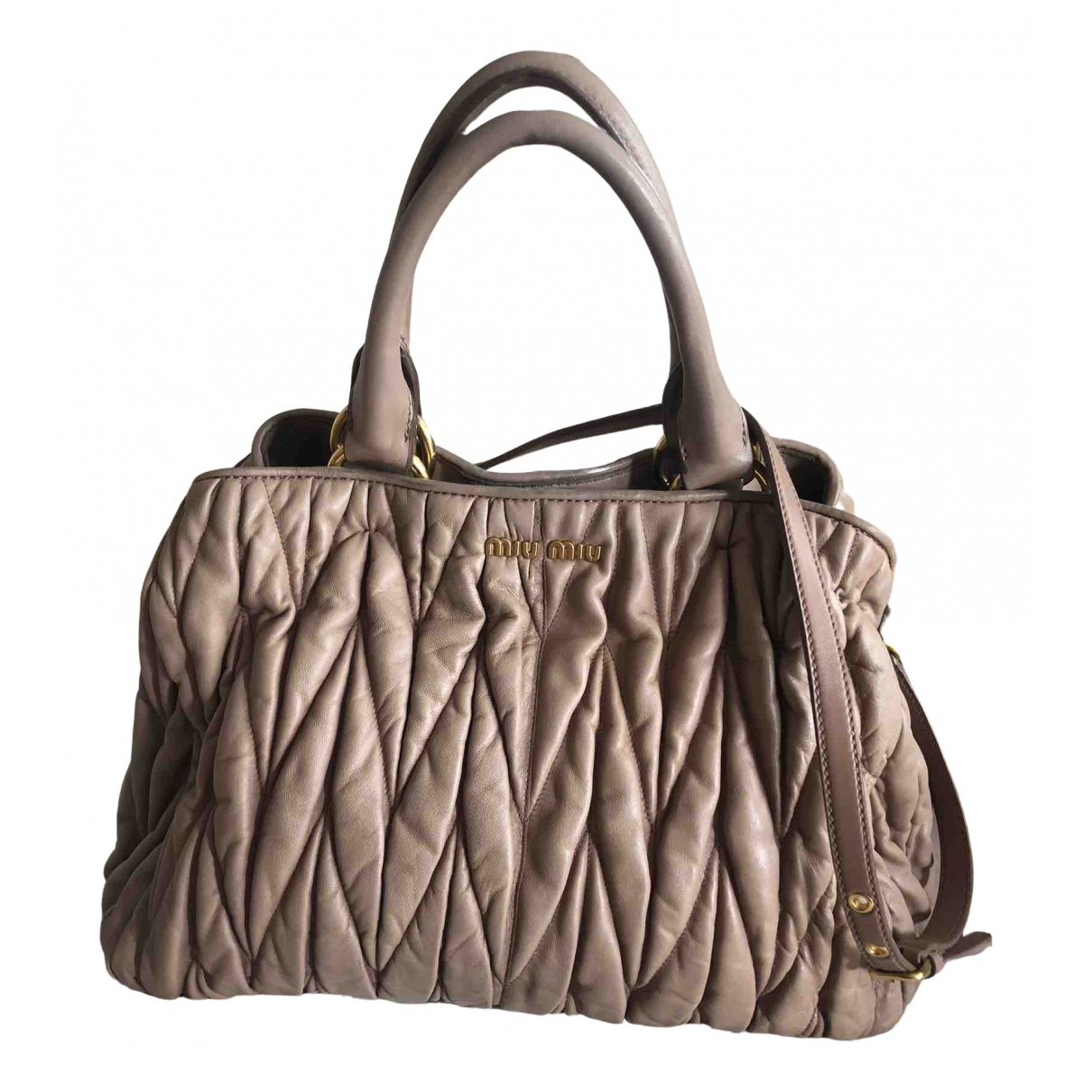 Miu Miu Matelassé Camel Leather handbag for Women N