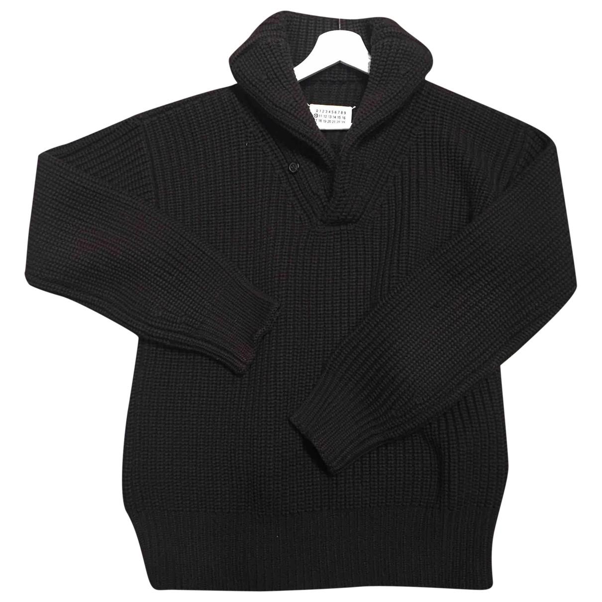 Maison Martin Margiela \N Pullover.Westen.Sweatshirts  in  Schwarz Wolle